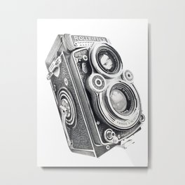 Rolleiflex Vintage 3.5f medium format camera. Metal Print
