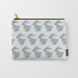 Always On My Mind - Origami Grey Rabbit Carry-All Pouch