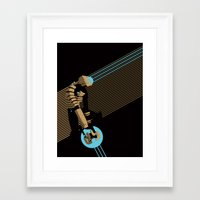 engineer Framed Art Prints featuring The Engineer by Florey