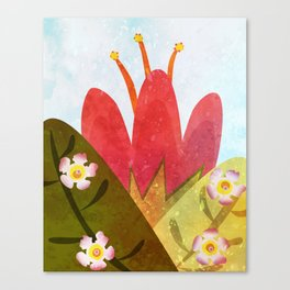 Giant red flower Canvas Print