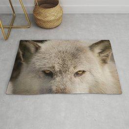 Wolf Eyes Wildlife Photography - Animal Nature Photo Rug