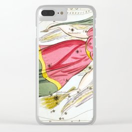 Sidney Hall - Urania's Mirror (1824) - Virgo Clear iPhone Case