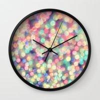 tiffany Wall Clocks featuring TIFFANY  by Monika Strigel