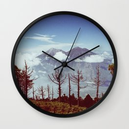 Volcanos Side by Side Wall Clock