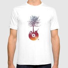 Vinyl Tree 2 Mens Fitted Tee MEDIUM White
