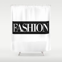 Fashion Logo Shower Curtain