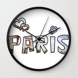 Love Paris Wall Clock