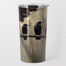 Three Like Minded Crows Travel Mug