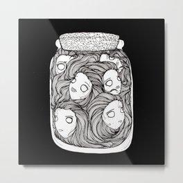 Bottled up emotions (black) Metal Print