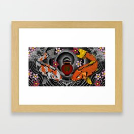Twin Kois Framed Art Print