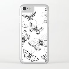 Butterflies and moths Clear iPhone Case