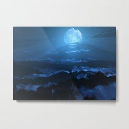 Rolling Ridges (Night) Metal Print