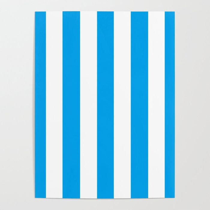 microsoft blue solid color white vertical lines pattern poster