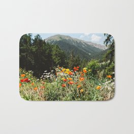 Mountain garden Bath Mat
