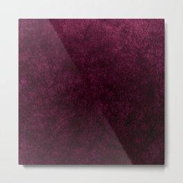 Pink Velvet texture Metal Print
