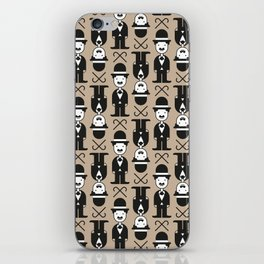 Charlie Chaplin Pattern iPhone Skin
