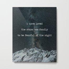 Galileo Galilei Quote on Stars Metal Print