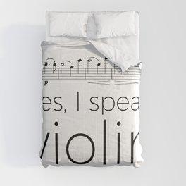 I speak violin Comforters