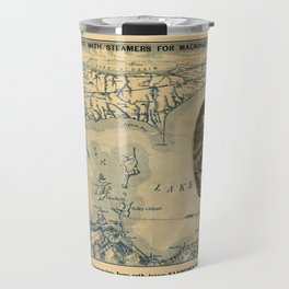 Map Of Lake Erie 1876 Travel Mug