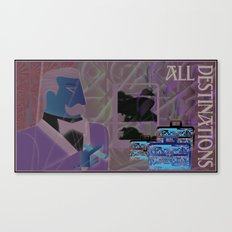 All Destinations - Deco Art Canvas Print