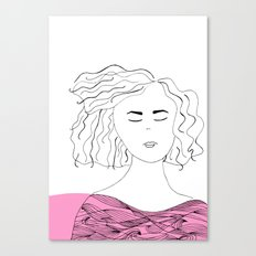 Messy hair II. Canvas Print