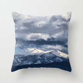 Snowcapped Sierras Throw Pillow
