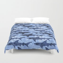 Blue Ocean Shark Duvet Cover