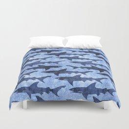 Blue Ocean Shark Duvet Cover