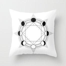 Luna Cycle | Magic at Midnight Throw Pillow