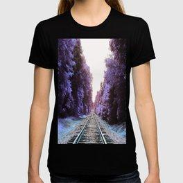 Train Tracks : Violet Blue Dreams T-shirt