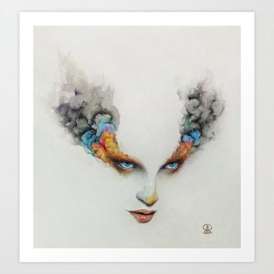 Burning Eyes Art Print