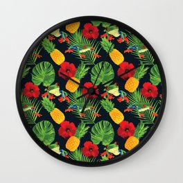 The Tropical Red Eyed Tree Frog Wall Clock