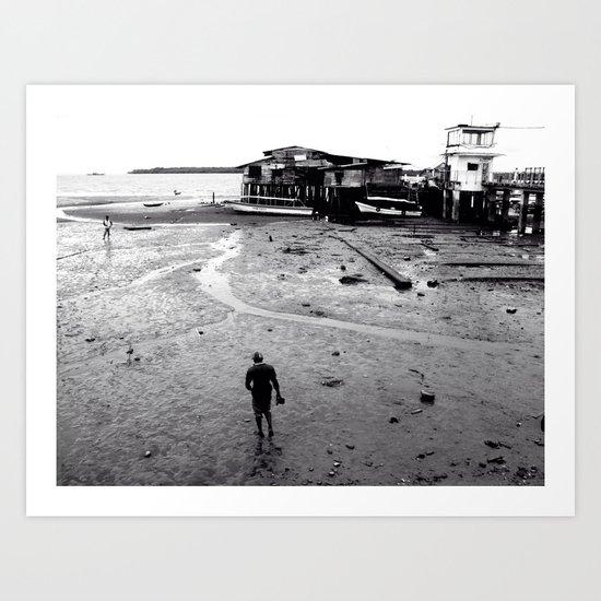 Pacific Breakwater  Art Print