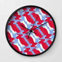 White-tailed eagle - Poland national symbol, flag colors Wall Clock