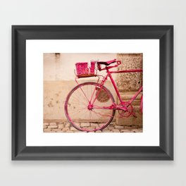 Lady in Pink Framed Art Print