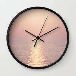 cashmere rose sunset Wall Clock
