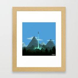 Cthulhu goes Kamehameha! Framed Art Print