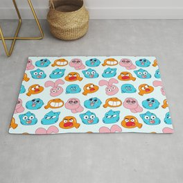 Gumball Faces Pattern Rug