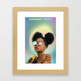 Insomnia Strikes Framed Art Print