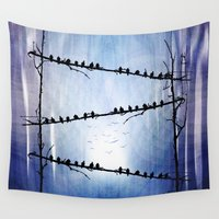 agnes Wall Tapestries featuring Barricade by Viviana Gonzalez