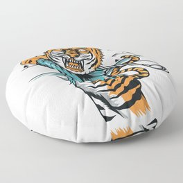Tiger golfer WITH cap Floor Pillow