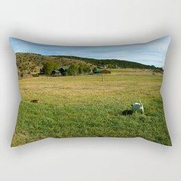 Mount Sopris and Puppies - Glenwood Springs, CO Rectangular Pillow
