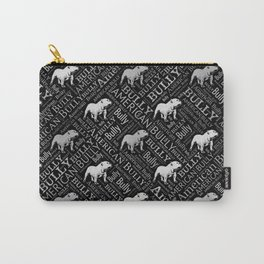 American Bully Word Art Carry-All Pouch