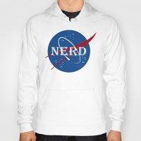 nerd Hoodies featuring Nerd by jekonu