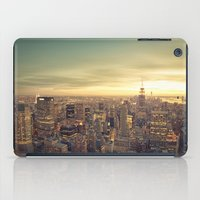 new york skyline iPad Cases featuring New York Skyline Cityscape by Vivienne Gucwa