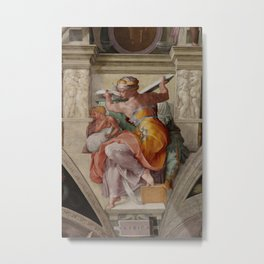 "Michelangelo ""The Libyan Sibyl"" Metal Print"