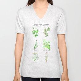 Herbs for Salads Unisex V-Neck