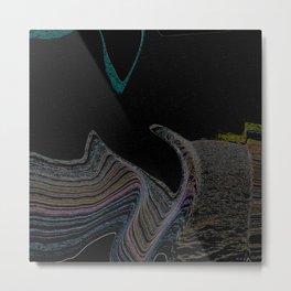 Ocean Lines Metal Print