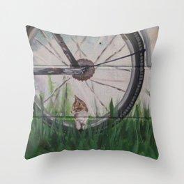 Kitty Dreams Throw Pillow