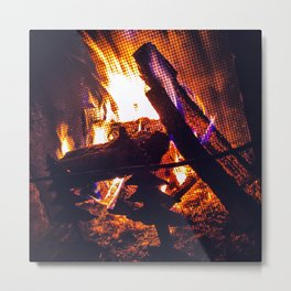Caramel-Colored Fire Upta Camp Metal Print
